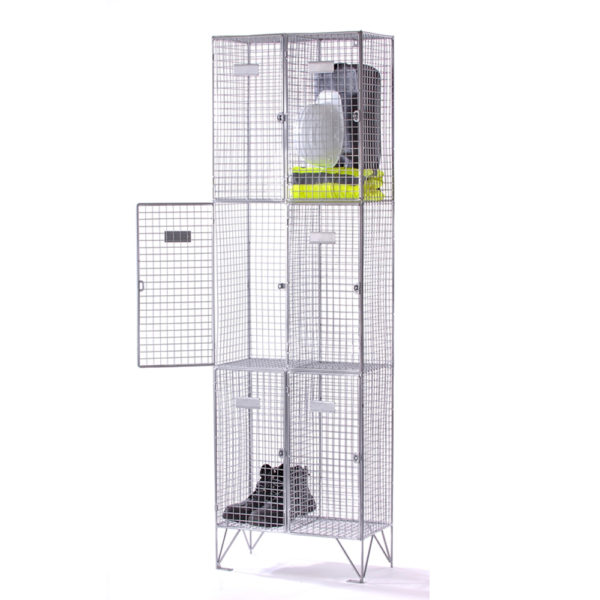 three-compartment-wire-mesh-locker