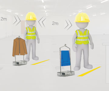 How to achieve social distancing on sites with changing room basket system